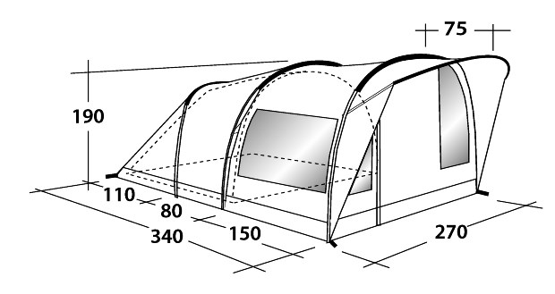 Outwell Rockwell 3 Tent Buyer Compare Tent Prices Amp Save